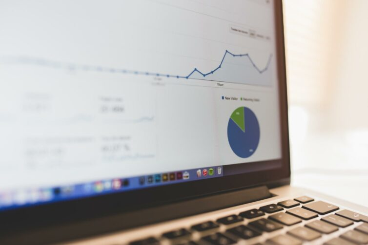 Laptop, Diagram, Statistics